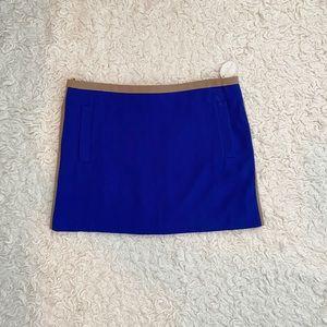 🆕NWT Hazel Royal Blue & Tan Mini Skirt Size Large
